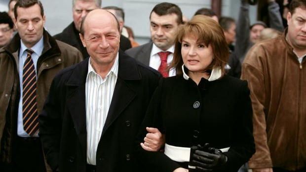 Family photo of the politician, married to Maria Băsescu, famous for president in 2004.