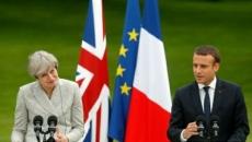 Macron si May
