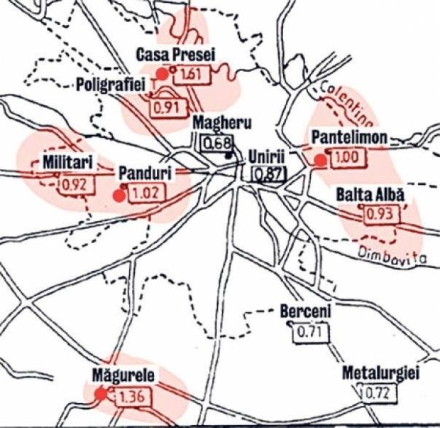 Harta Cu Cele Mai Periculoase Zone Seismice Din Bucuresti