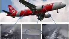 Fuselajul avionului AirAsia, filmat în Marea Java