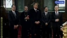Klaus Iohannis a participat la liturghia de la Patriarhie
