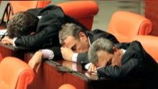 parlamentari dormind