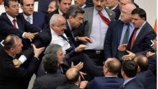 Bătaie în parlamentul turc