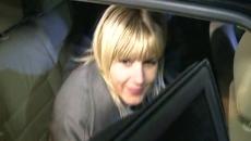 Elena Udrea, la ieşirea din arestul Poliţiei Capitalei