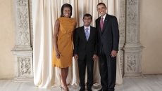 Mohamed Nasheed alături de Michelle Si Barack Obama
