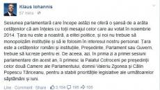 Facebook Klaus Iohannis