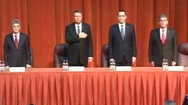 Klaus Iohannis şi Victor Ponta, la bilantul MApN