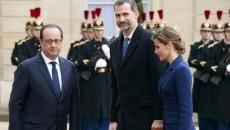 Regele Felipe al VI-lea al Spaniei şi Francois Hollande