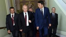 Vladimir Putin si Matteo Renzi