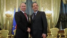 Vladimir Putin şi Francois Hollande