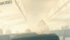 Fum in cabina avionului