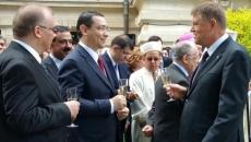 Victor Ponta şi Klaus Iohannis la Cotroceni