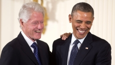 Barack Obama şi Bill Clinton