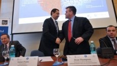 Victor Ponta si Dean Thompson