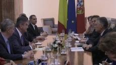 Vicepremierul Gabriel Oprea și președintele Portugaliei, Anibal Cavaco Silva