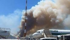 Aeroport Fiumicino, incendiu