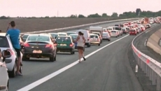 Blocaj pe autostrada soarelui