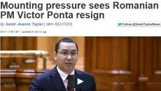 Demisia lui Victor Ponta, relatată de jurnalistii de la Euronews