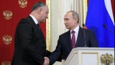 Igor Dodon si Vladimir Putin