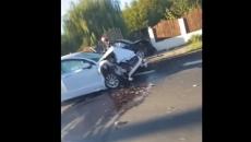 Noi imagini de la accidentul ministrului Tranposturilor, Lucian Bode