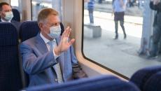 Preşedintele Klaus Iohannis a inaugurat linia ferată Gara de Nord - Aeroportul Otopeni